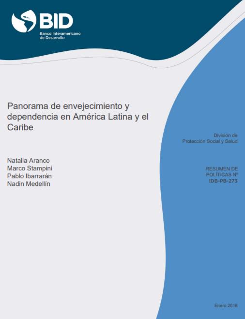 """Publication in Spanish """"Panorama de envejecimiento"""""""