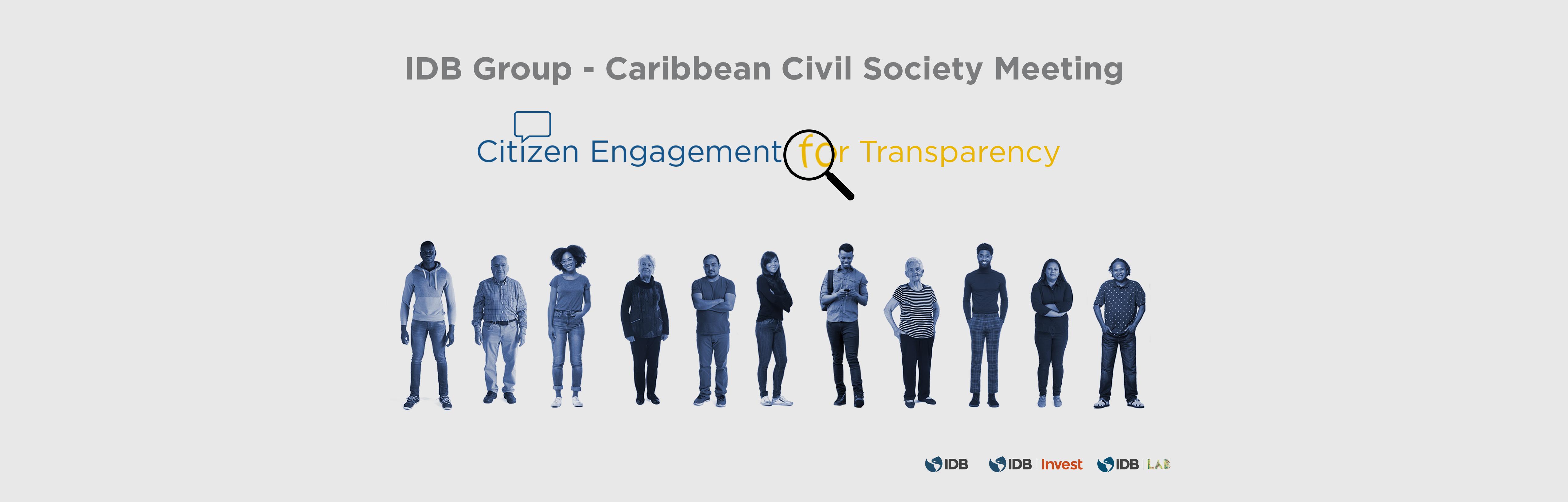 Banner foro caribe 2019 sociedad civil BID